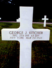 Pfc George J. Kitcher, Headquarters Company 254th Infantry Regiment