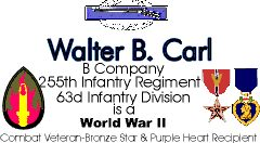 Sample Combat Business Card with Medals