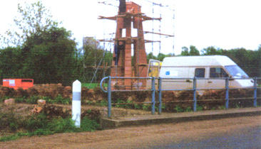 Cross of the Jebsheim Mill under construction 1988