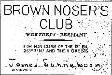 Brown Nose Club Card- 253rd Infantry