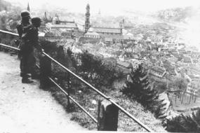 Overlooking German town