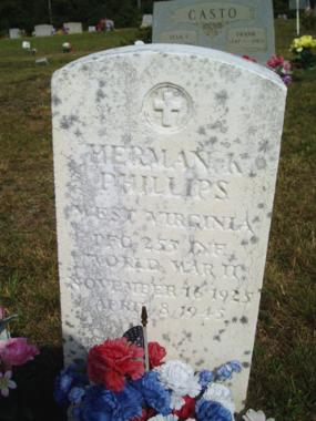 Gravemarker- Phillips M/255th Inf Regt